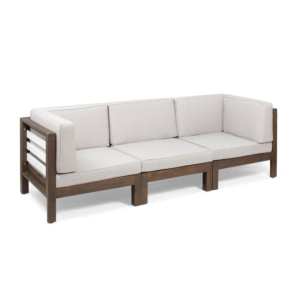 Parnell Outdoor Modular Patio Sofa with Cushions by Breakwater Bay Breakwater Bay