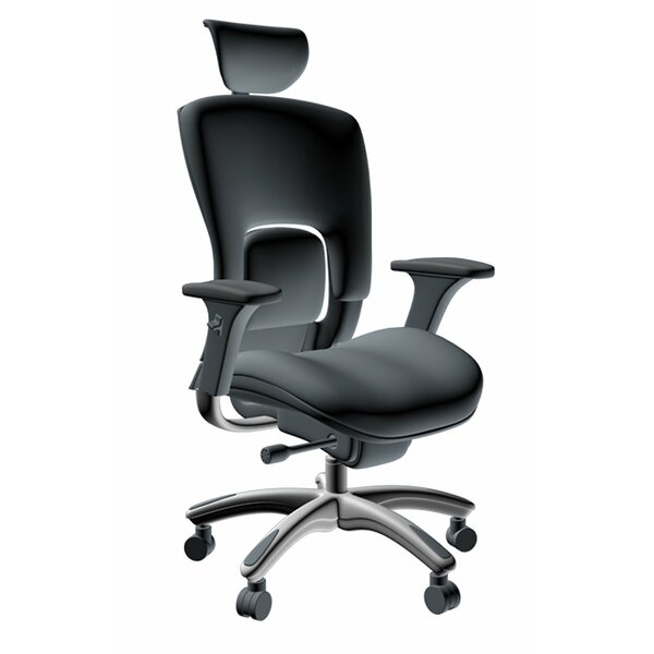 Ergonomic Genuine Leather Adjustable Executive Chair by Symple Stuff
