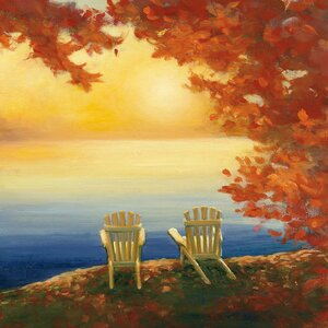 Autumn Glow II Painting Print on Wrapped Canvas by Loon Peak