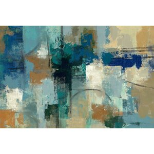 'Jasper Lagoon' Painting Print on Wrapped Canvas by East Urban Home