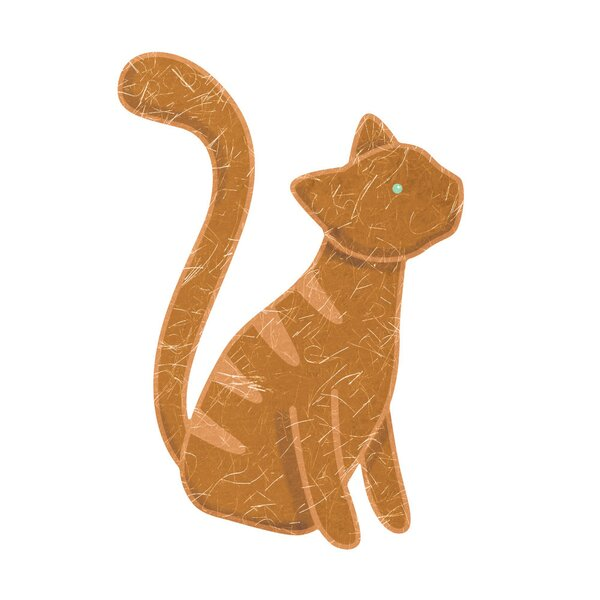 Right-Facing Red Tabby Cat Wall Decal by My Wonderful Walls