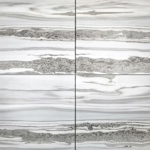 Nature 12 x 12 Glass Wood Look Tile in Gray by Abolos