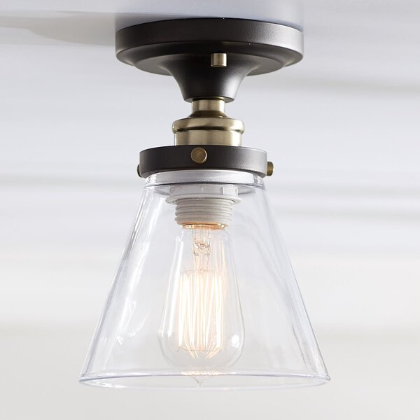 Paterson 1-Light Flush Mount by Trent Austin Design