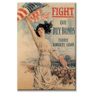 FIGHT! or Buy Bonds Third Liberty Loan by Howard Chandler Christy Vintage Advertisement on Wrapped Canvas by Buyenlarge