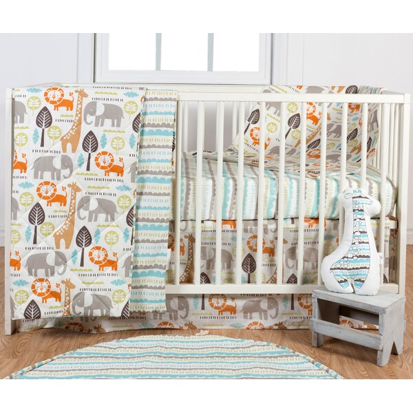 Safari 3 Piece Crib Bedding Set by Poppi Living