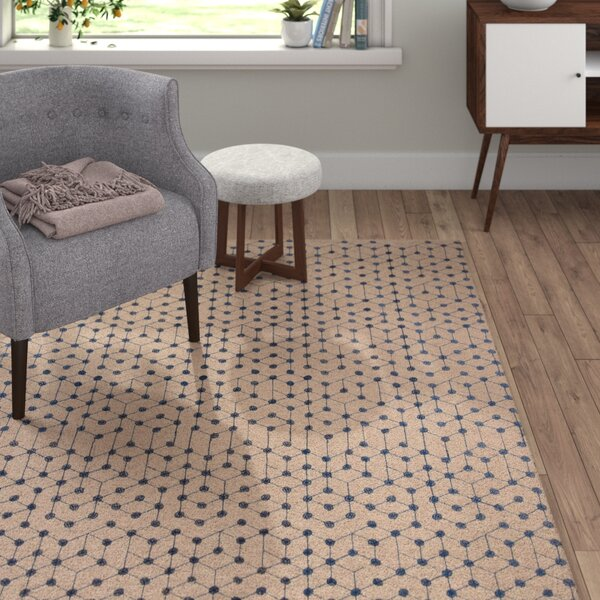 Oasis Hand-Woven Brown/Blue Area Rug by Langley Street