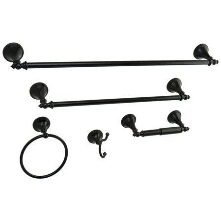 Naples 5 Piece Bathroom Hardware Set by Kingston Brass