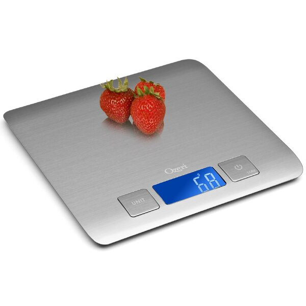 Zenith Digital Kitchen Scale, in Refined Stainless Steel with Fingerprint Resistant Coating by Ozeri
