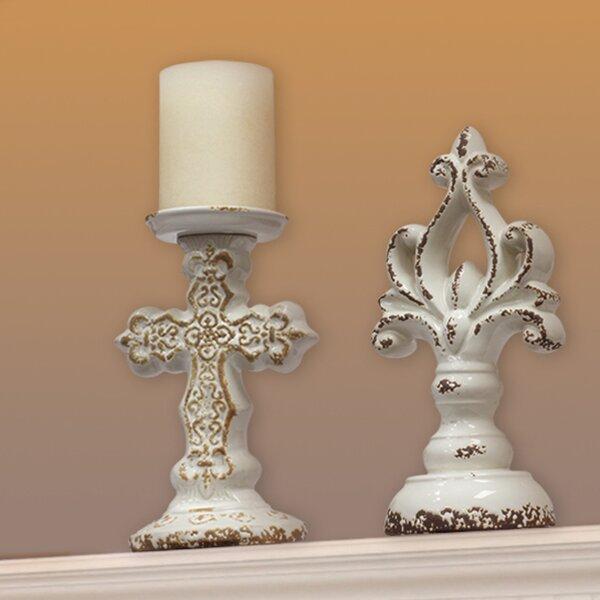 Accents of Faith Worn Ceramic Candlestick by CKK Home Décor, LP