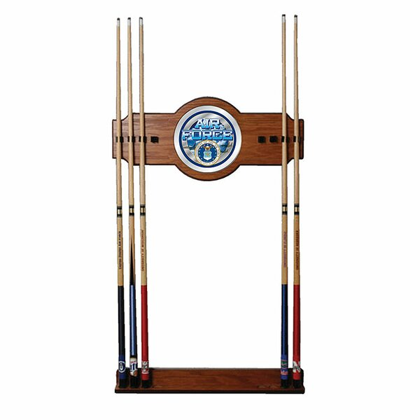 U.S. Air Force 2 Piece Wood and Mirror Wall Cue Rack by Trademark Global