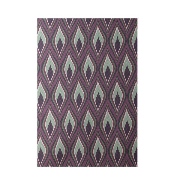 Purple Indoor/Outdoor Area Rug by e by design