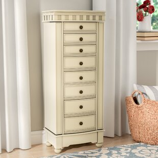 O'brien Jewelry Armoire with Mirror By Three Posts