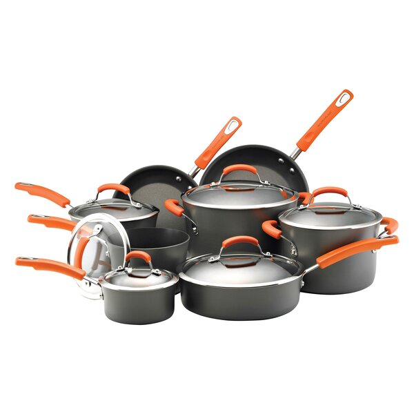 Hard Anodized Nonstick 14 Piece Cookware Set By Rachael Ray.