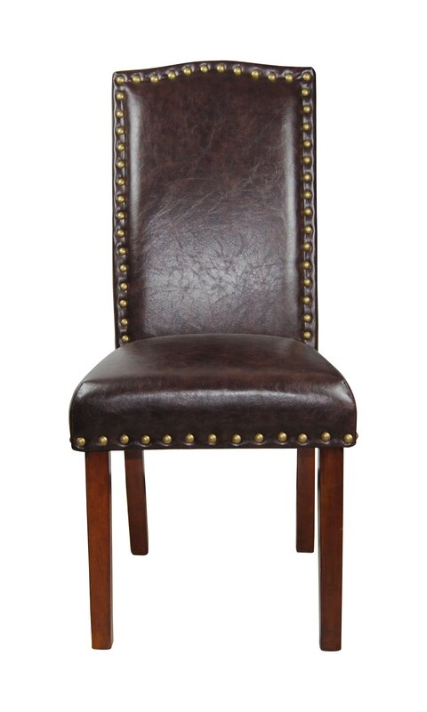 Castilian Leather Upholstered Dining Chair