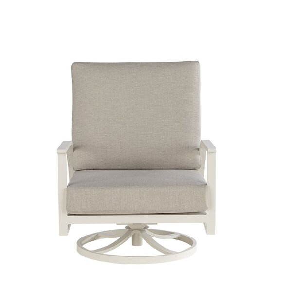 Dani Swivel Patio Chair with Sunbrella Cushion (Set of 2) by Highland Dunes Highland Dunes
