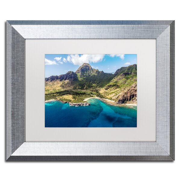 Kauai from the Air by Pierre Leclerc Framed Photographic Print by Trademark Fine Art