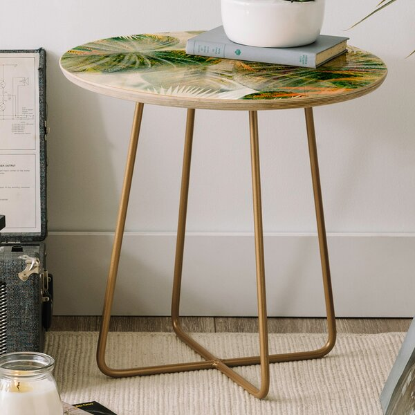 Iveta Abolina Tropical Round End Table by East Urban Home