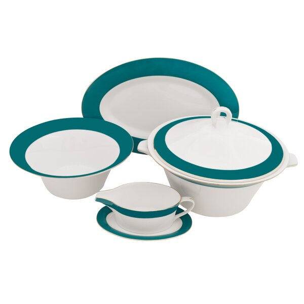 Valley Fine China Special Serving 5 Piece Dinnerware Set by Shinepukur Ceramics USA, Inc.