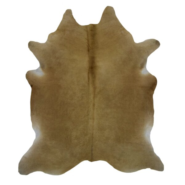 Joel Cowhide Dark Beige Area Rug by Millwood Pines