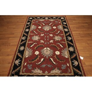 Top Reviews One-of-a-Kind Renn Hand-Tufted Wool Rust/Black Area Rug ByAstoria Grand