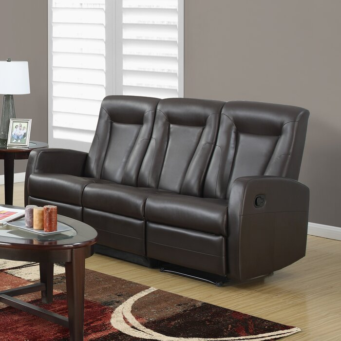 Attractive Bonded Leather Reclining Sofa