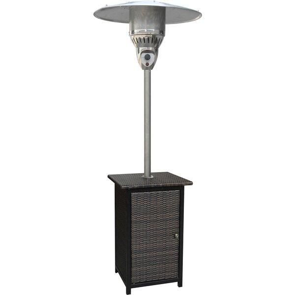 Square Wicker 41,000 BTU Propane Standing Patio Heater by Hanover