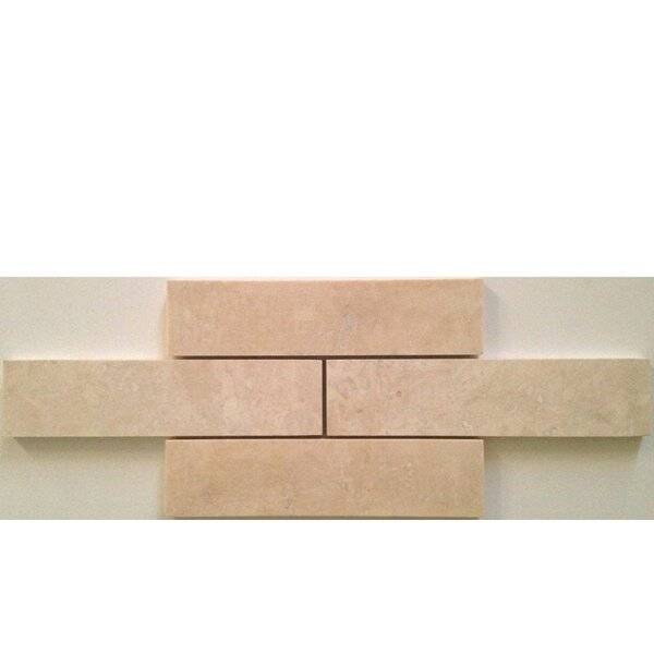 2 x 8 Travertine Mosaic Tile in Ivory by Ephesus Stones