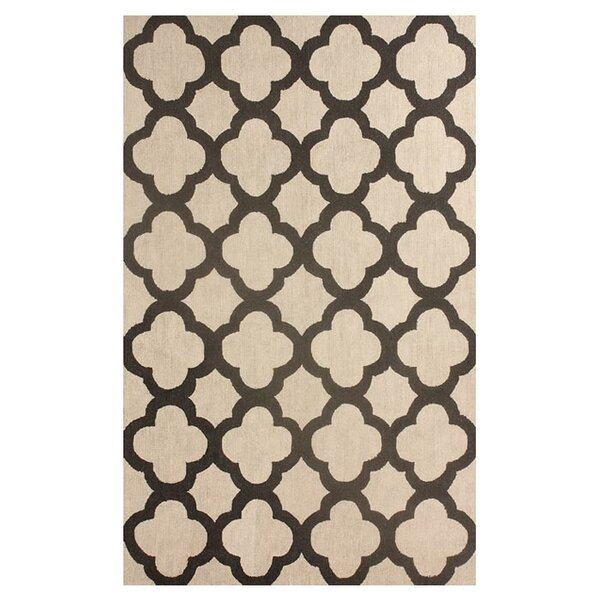 Doorfield Hand-Hooked Wool Beige Area Rug by Charlton Home