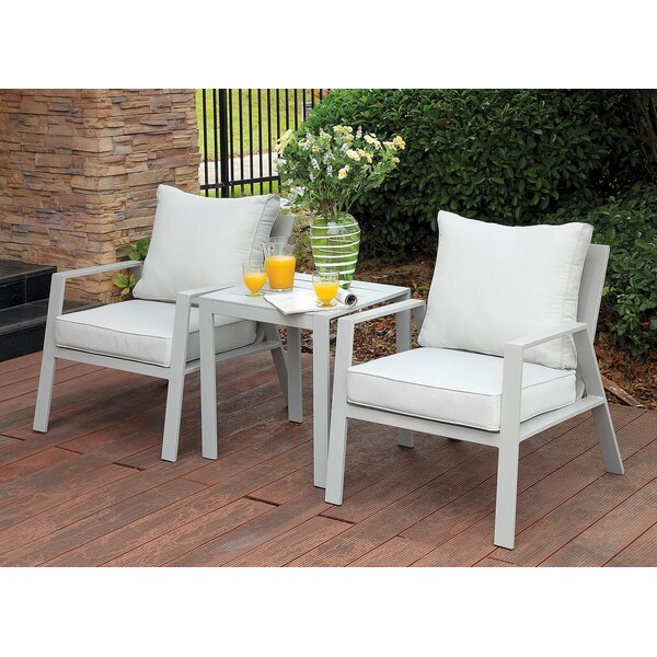 Belleville 3 Piece Conversation Set with Cushions by Rosecliff Heights