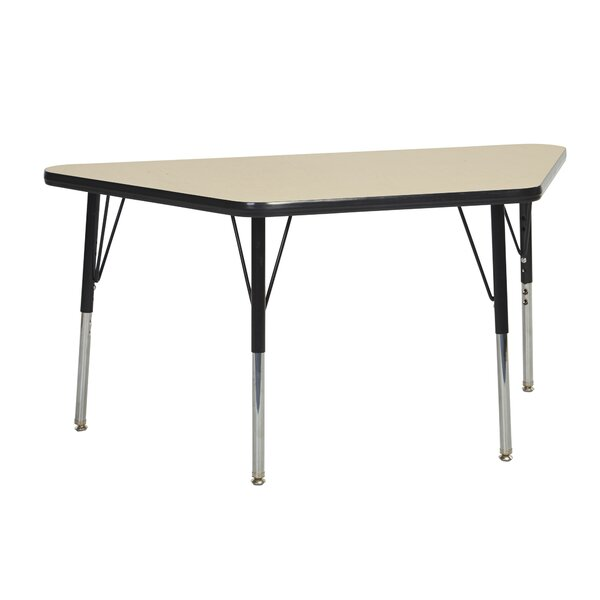 Trapezoid Maple Top Thermo-Fused Adjustable 24 x 48 Trapezoidal Activity Table by ECR4kids