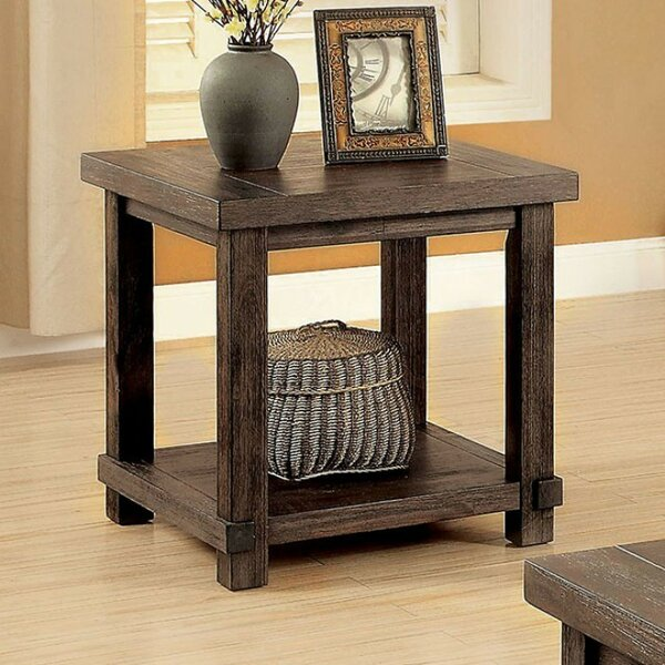 Weatherby End Table by Millwood Pines