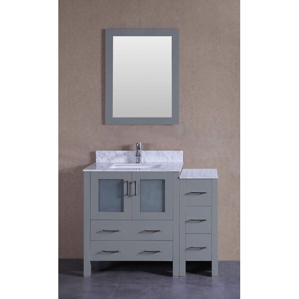 Vines 42 Single Bathroom Vanity Set with Mirror by Bosconi