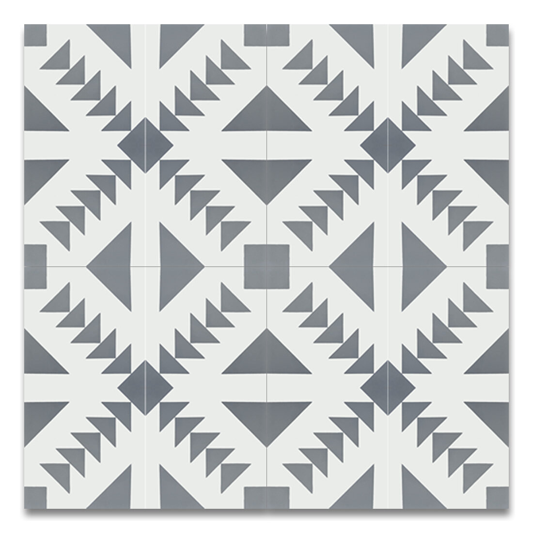Moroccan mosaic tile house tadla 8 x 8 cement patterned tile in gray white wayfair