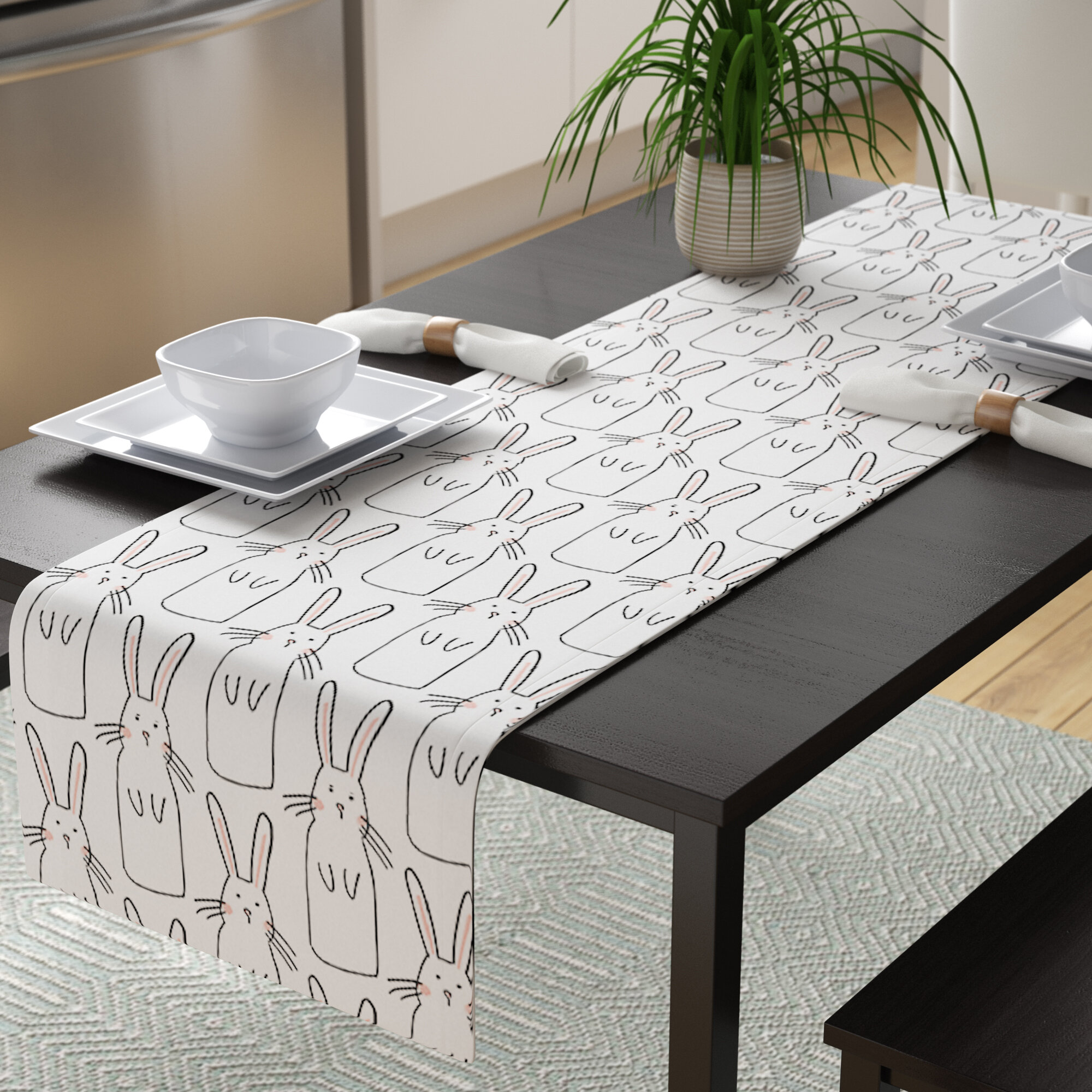Modern Contemporary Table Runner Table Linens Up To 65 Off Until 11 20 Wayfair Wayfair