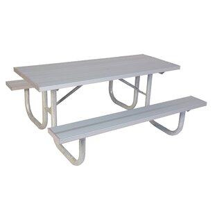 Extra Heavy Duty Aluminum Picnic Table