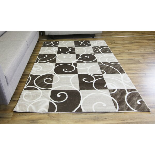 Passion Brown/Cream Area Rug by Beyan Signature