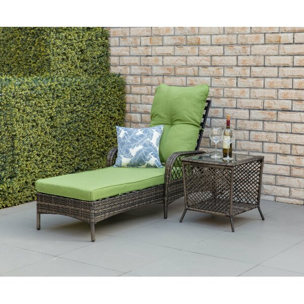 Aldusa Reclining Chaise Lounge with Cushion