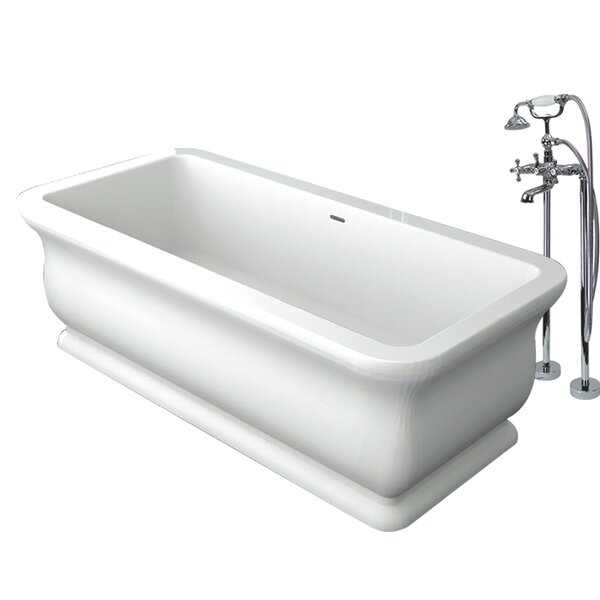 Canova Royal 71 x 33.5 Freestanding Soaking Bathtub by Transolid
