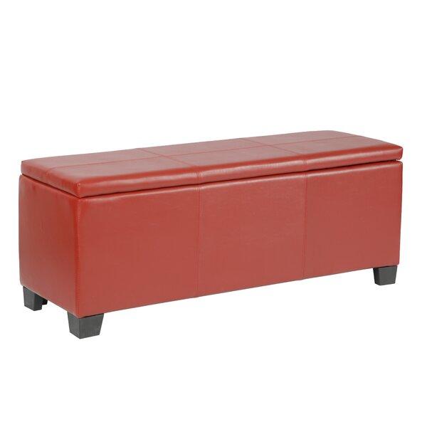 Martinez-Wilson Faux Leather Storage Bench