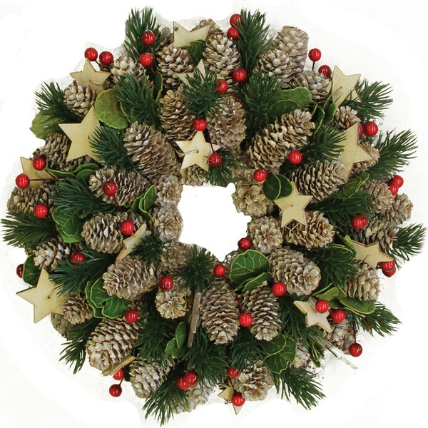 Artificial Pine Cone and Berry Christmas Wreath by Northlight Seasonal
