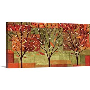 'Watercolor Forest II' by Veronique Charron Painting Print on Wrapped Canvas by Great Big Canvas