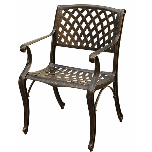 Casanova Mesh Lattice Patio Dining Chair by Fleur De Lis Living