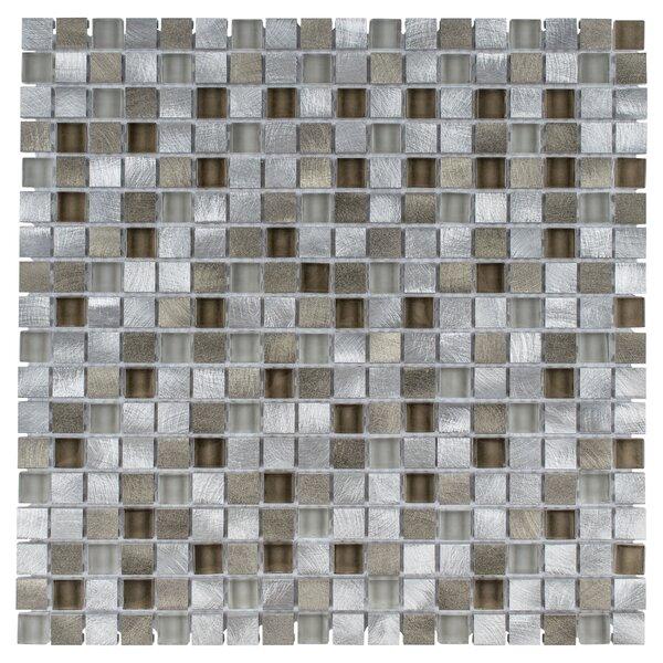 Commix 1 x 1 Glass/Aluminum Mosaic Tile in Lorraine by EliteTile