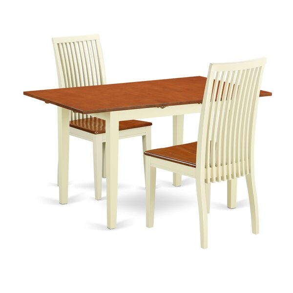 Balfor 3 Piece Solid Wood Dining Set by Andover Mills