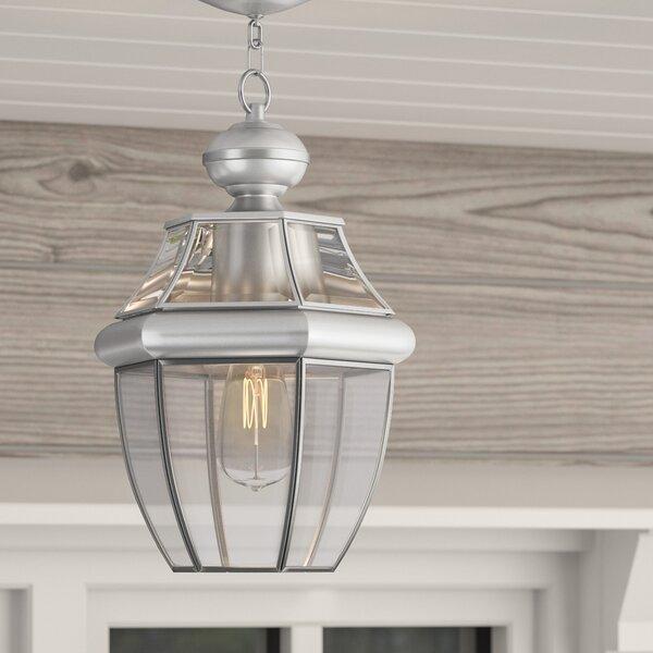 Gustavson 1-Light Outdoor Hanging Lantern by Three Posts