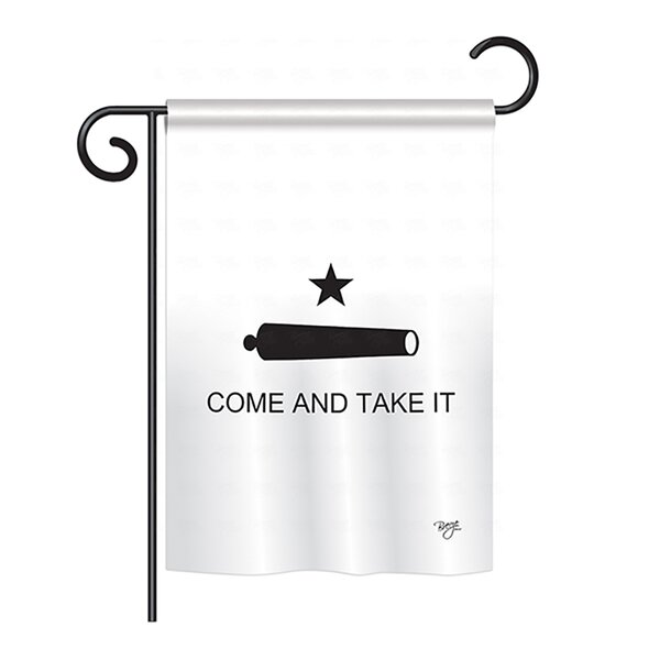 Come and Take It Canon 2-Sided Vertical Flag by Breeze Decor