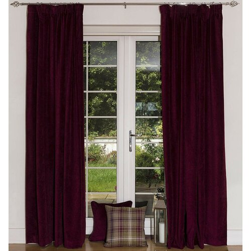 Akatlar Matte Eyelet Blackout Thermal Curtains Rosalind Wheeler Size per Panel: 228 W x 228 D cm