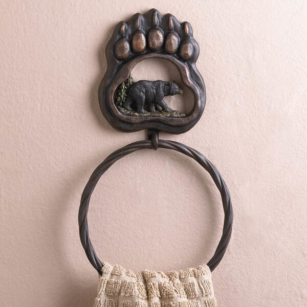 Iron Bear Paw Towel Ring by Zingz & Thingz