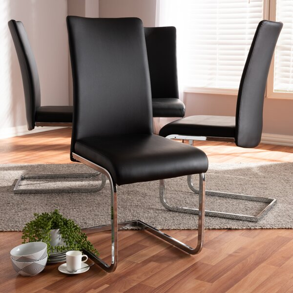 Sorg Upholstered Dining Chair (Set of 4) by Orren Ellis