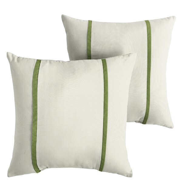 Holiman Indoor/Outdoor Sunbrella Throw Pillow (Set of 2) by Alcott Hill